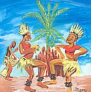 Bikutsi Dance 3 From Cameroon Art Print
