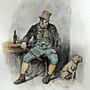 Bill Sykes And His Dog, From Charles Art Print