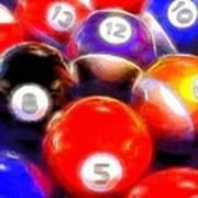 Billiard Balls On The Table Art Print
