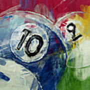 Billiards 10 And 9 Art Print