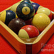 Billiards - 9 Ball - Pool Table - Nine Ball Art Print