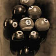 Billiards Art - Your Break - Bw Opal Art Print