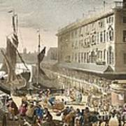 Billingsgate Fish Market, 1808 Art Print