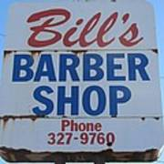Bill's Barber Shop Art Print