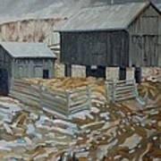 Bill's Barns Art Print