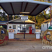 Billy Carters Old Service Station In Plains Georgia Art Print