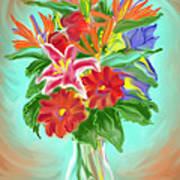 Billys Flowers Art Print