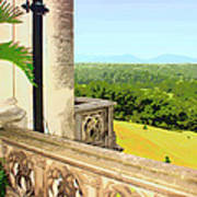 Biltmore Balcony Asheville Nc Print by William Dey