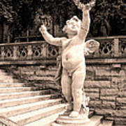 Biltmore Cherub Asheville Nc Art Print by William Dey
