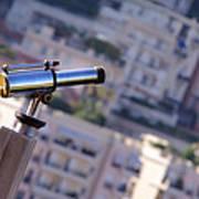 Binoculars View Of City Art Print
