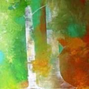 Birch In Fall Colors Art Print