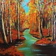 Birch River Art Print
