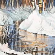 Birch Trio II Art Print