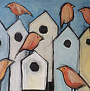 Bird Condo Association Art Print