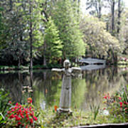 Bird Girl Of Magnolia Plantation Gardens Art Print