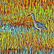 Bird In The Reeds Art Print