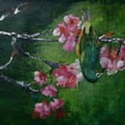 Bird N Blossom.... Art Print