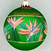 Bird Of Paradise Christmas Bulb Art Print