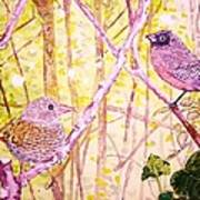 Bird Pair Art Print by Linda Vaughon