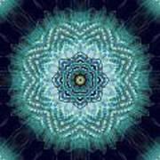 Bird Tail Lotus Mandala Art Print