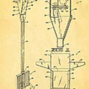 Bird Trap Cat Feeder Patent Art 1979 Art Print