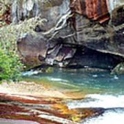 Birdrock Waterfall In Spring 2 Art Print