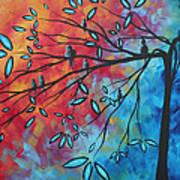 Birds And Blossoms By Madart Art Print