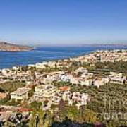 Birds Eye View Of Crete Greece Art Print