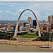 Bird's Eye View Of St.louis  Art Print