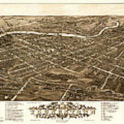 Bird's-eye View Of Youngstown Ohio 1882 Art Print