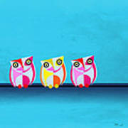 Birds In Blue  Art Print