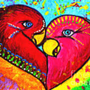 Birds In Love Pop Art Art Print