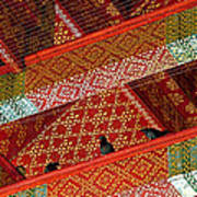 Birds In Rafters Of Royal Temple At Grand Palace Of Thailand  Art Print