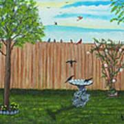 Birds In The Backyard Art Print