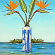 Birds Of Paradise Over Fiji Art Print