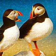 Birdy Gossip Twins Art Print
