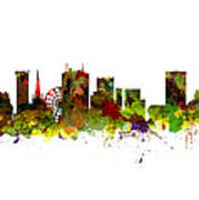 Birmingham Uk City Skyline Art Print