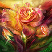 Birth Of A Rose - Sq Art Print