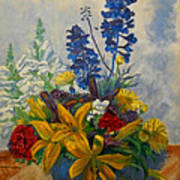 Birthday Flowers 1 Art Print by Brian  Pinkey
