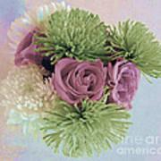 Birthday Flowers Three Art Print