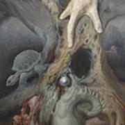 Birthing Tree. Art Print by Wayne Evans