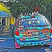 Bisbee Arizona Art Car Art Print