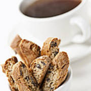 Biscotti And Coffee Art Print