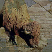 Bison Vintage Style -photo- Art Print by Ann Powell