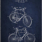 Bisycle Patent Drawing From 1898 Art Print