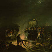 Bivouac Of Napoleon I 1769-1821 On The Battlefield Of The Battle Of Wagram, 5th-6th July 1809, 1810 Art Print