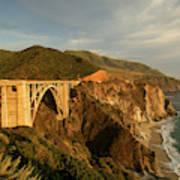 Bixby Creek Bridge In Big Sur Art Print