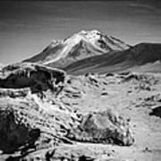 Bizarre Landscape Bolivia Black And White Select Focus Art Print