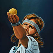 Bjorn Borg Art Print by Paul Meijering