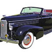 Black 1938 Cadillac Lasalle Art Print
